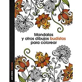 Mandalas budistas con dibujos para pintar para adultos