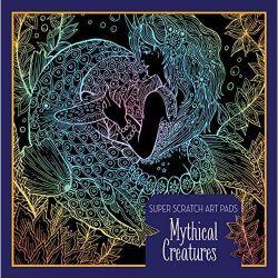 Super-Scratch-Art-Pads-Creatures-libro-colorear-criaturas-fantasticas-en-mandalas