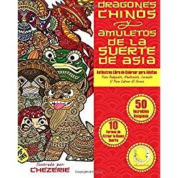 ANTIESTRES-Libro-Colorear-Para-Adultos-Dragones-chinos-en-mandalas-para-colorear