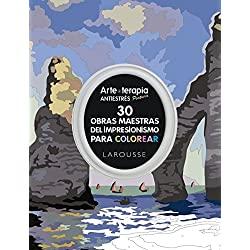 Arte-terapia-maestras-impresionismo-colorear-Larousse-30-obras-maestras-Impresionismo-en-mandalas-para-colorear-antiestrés-y-relajantes