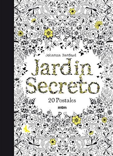 jardin secreto 20 postales para colorear y relajarse
