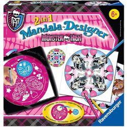 Ravensburger-29745-mandalas-tamaños-Monster-Monster-High-Juego-para-crear-mandalas-books-diseño-de-mandalas